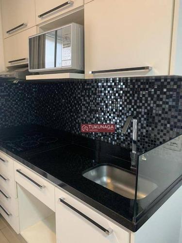 Studio Com 1 Dormitório Para Alugar, 39 M² Por R$ 1.825,00/mês - Vila Augusta - Guarulhos/sp - St0112