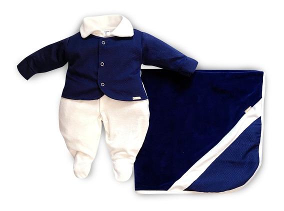 Saída Maternidade Menino Príncipe Marinho Maxi Baby