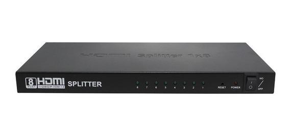 Divisor Hdmi 1.4 Hdcp Splitter 1 Entrada 8 Saídas 1080p 1x8