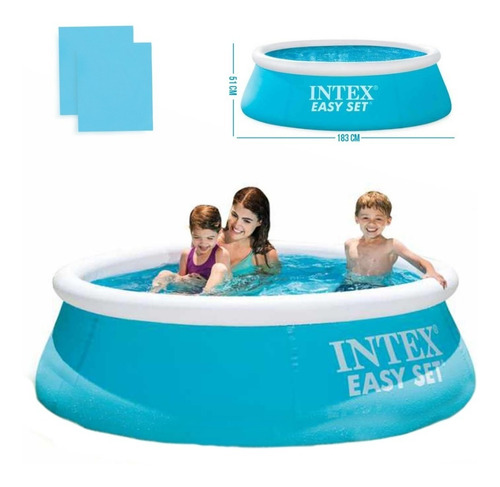 Piscina Inflável Infantil 880 Litros Easy Set 28101 Intex
