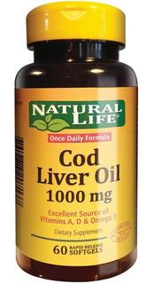 Aceite De Higado De Bacalao Natural Life Cod Liver 1000mg