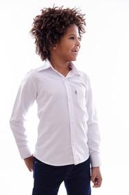 Camisa Social Infantil Manga Longa Pronta Entrega