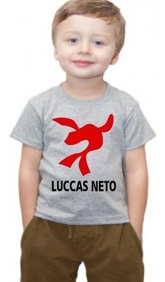 Camiseta Camisa Infantil Luccas Neto Super Foca Blusa Nome 4