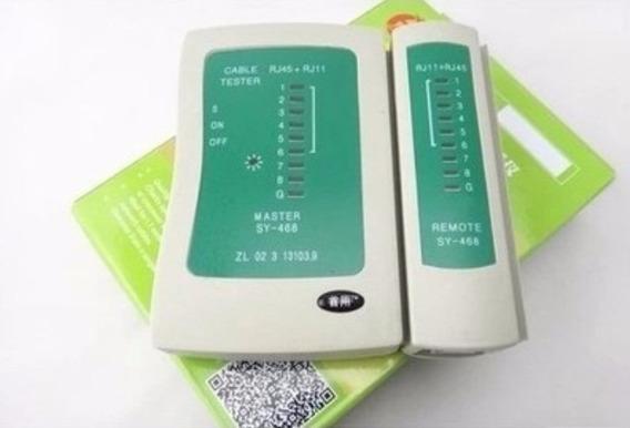 Tester Probador Cable Rj45 Y Cable Telefono Rj11 C/estuche