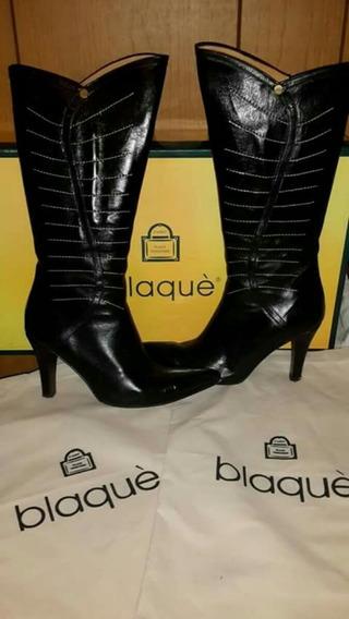 Botas De Cuero Blaque