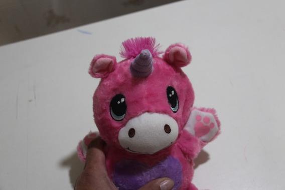 Pelucia Unicornio Rosa Bali Pets Vira Bola Escondida