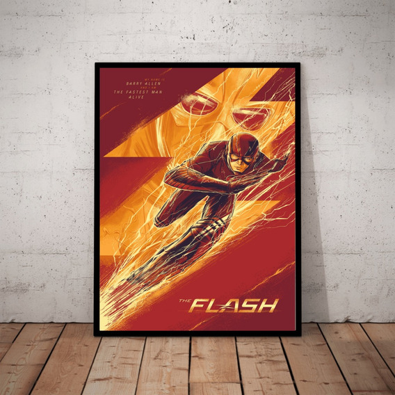 Quadro Decorativo The Flash Dc Hq Heroi Arte