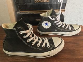 Tenis Converse Tipo Bota Negros ¡originales!