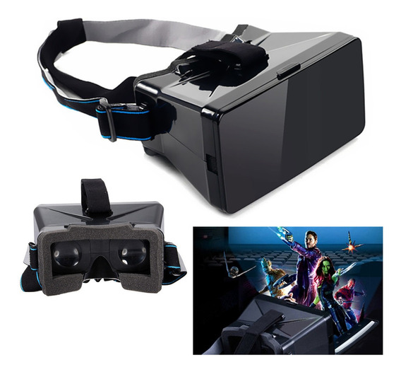 Universal 3d Virtual Reality Vr Video Cradboard Óculos Para