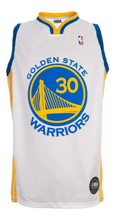 Camiseta Nba Golden State Warriors Curry Blanca Basket
