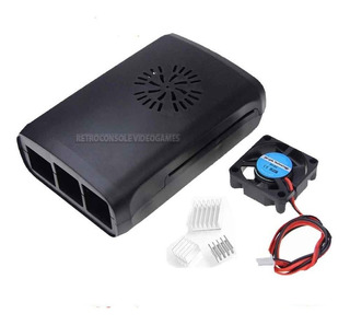 Case Raspberry Pi3 Pi 3 B E B+ + 3 Dissipadores + Cooler Fan