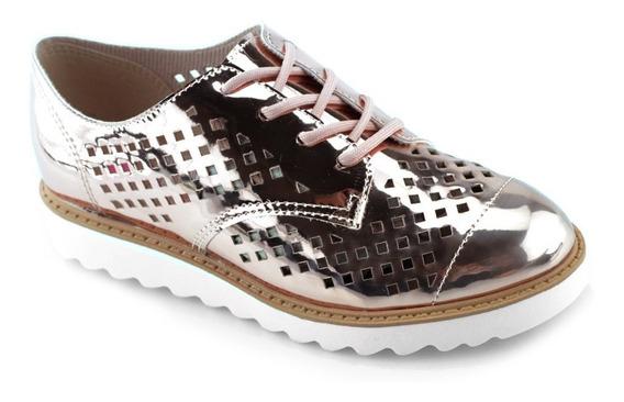 Sapato Oxford Ouro Rosado Molekinha 2510103 - Cirandinha