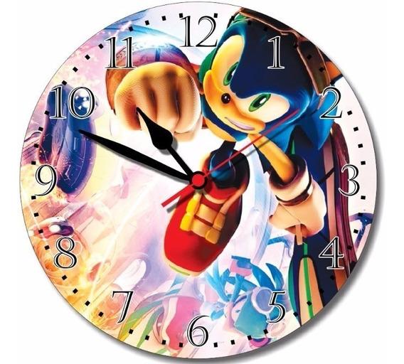 Relógio Parede Sonic Desenho Jogo Nerd Nintendo 64 Game 30cm