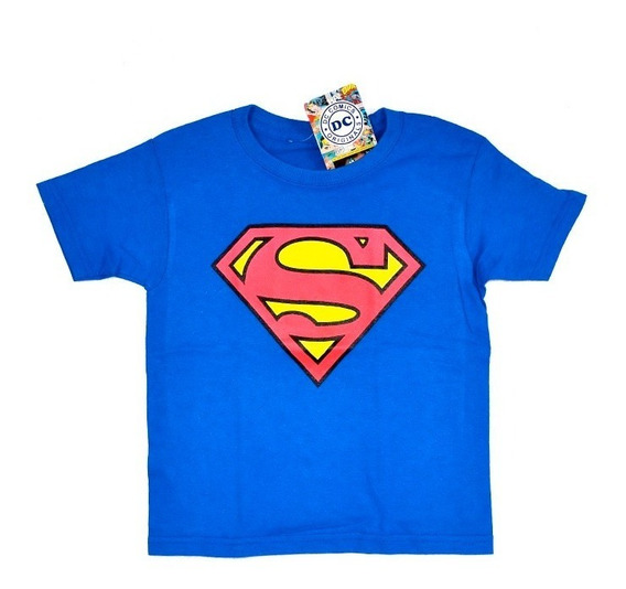 Superman Dc Comics Playera De Niño 100% Original