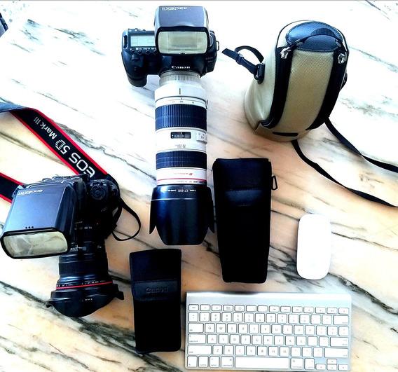 Vendo Canon 5d Mark Iii Y 5d Mark Ii Con Lentes Y Flash