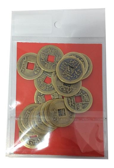 Moeda Feng Shui E Iching 2,5 Cm Pacote Com 20 Unidades