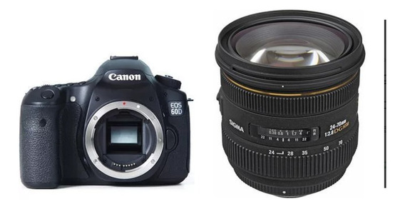 Vendo Camera 60d Com Lente 24/70 Sigma 2,8