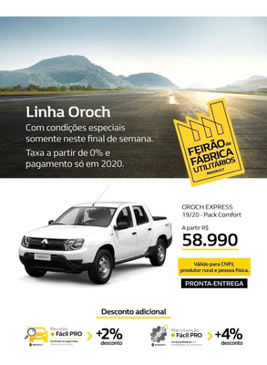 Renault Duster Oroch 1.6 16v Express Sce 4p 2019