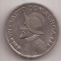 Panama Moneda De 1/4 De Balboa Año 1993