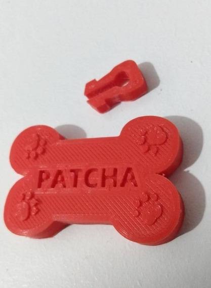 Plaquinha 3d Pet Para Coleira Com Nome Do Dog E Seu Fone