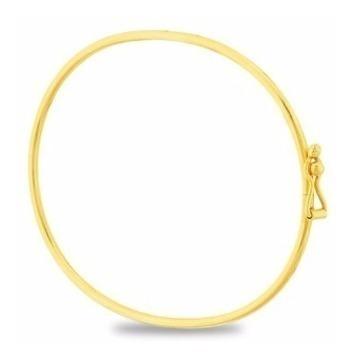 Pulseira De Ouro 18k Algema Lisa 2,4g - F47