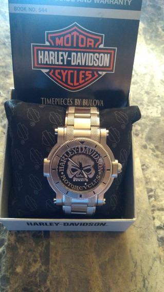 Reloj Harley-davidson Willie Skull Bulova 76a11