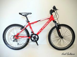 Bicicleta Mountainbike R24 Aluminio 21v Suspension 140-150cm