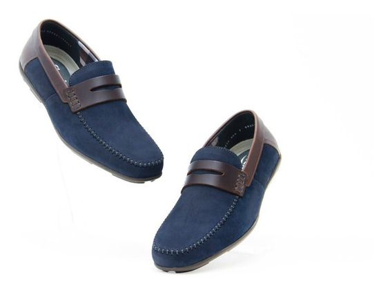 Zapatos Comodos Caballero Flexi 68607 Navy 100% Originales!!