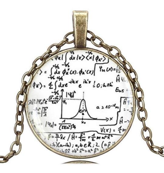 Colar Unissex Cabochão Matemática Física Cálculo Equação