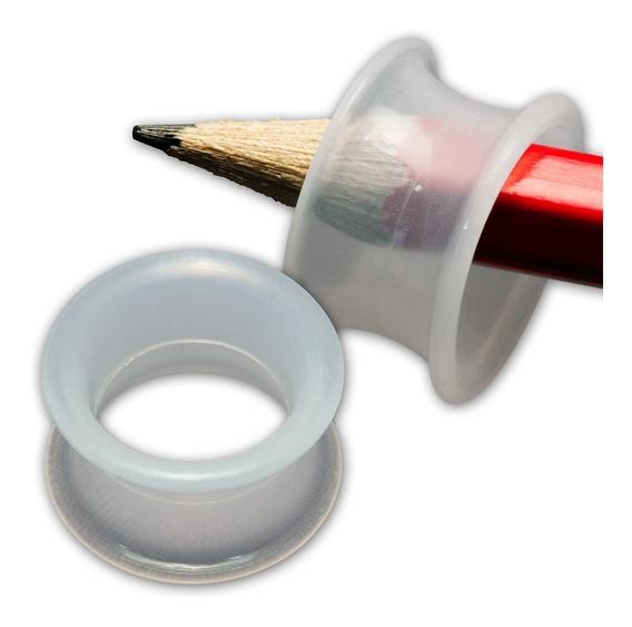 Alargador Silicone Transparente Vazado 18mm 20mm 22mm Par