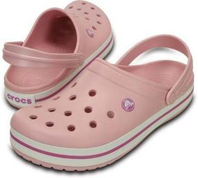 Zapato Crocs Dama Crocband Rosa Pastel