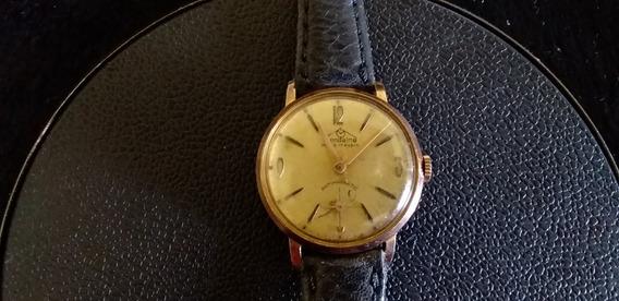 Relógio De Pulso Unissex Plaquê De Ouro Mondaine A Corda