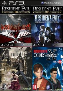Pack 4 Juegos Resident Evil Hd En Español Ps3