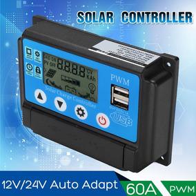 Controlador De Carga Solar Pwm 60a 12v/24v 1 Unid