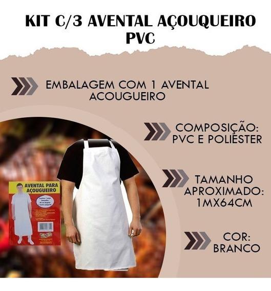 Kit C/3 Avental Açougueiro Pvc Açougueiro Profissional