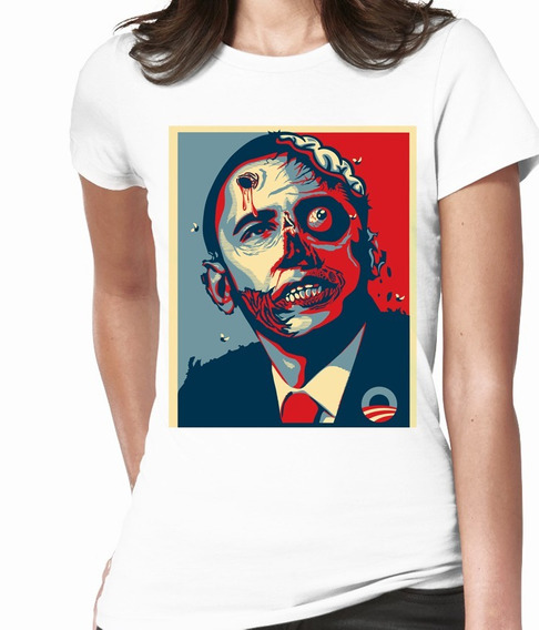 Blusas Cleen Alexer Zombie Barack Obama Mod 5