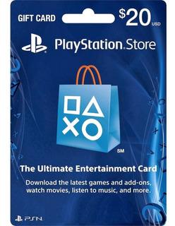 Tarjeta Psn 20$ Gift Card Ps4 Chile- Codigo Digital Venchall