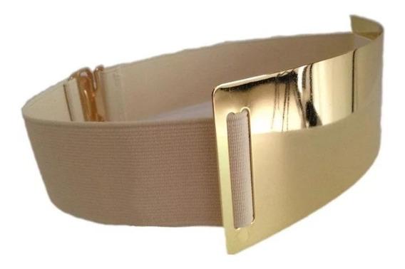 Cinturón Elástico Tipo Espejo Moderno Ancho Elástico 4 Cm