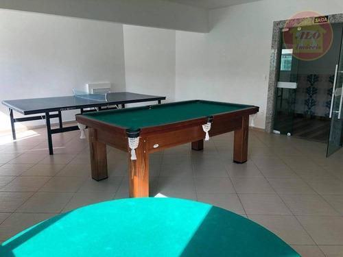 Apartamento À Venda, 76 M² Por R$ 360.000,00 - Caiçara - Praia Grande/sp - Ap5593