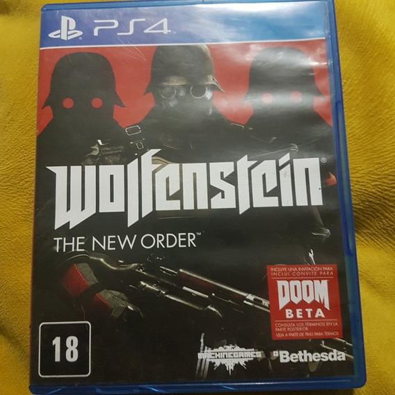 Wolfenstein Ps4 Mídia Física Seminovo