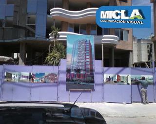 Carteles Obras, Inmobiliaria, Construcción, Señales Info.