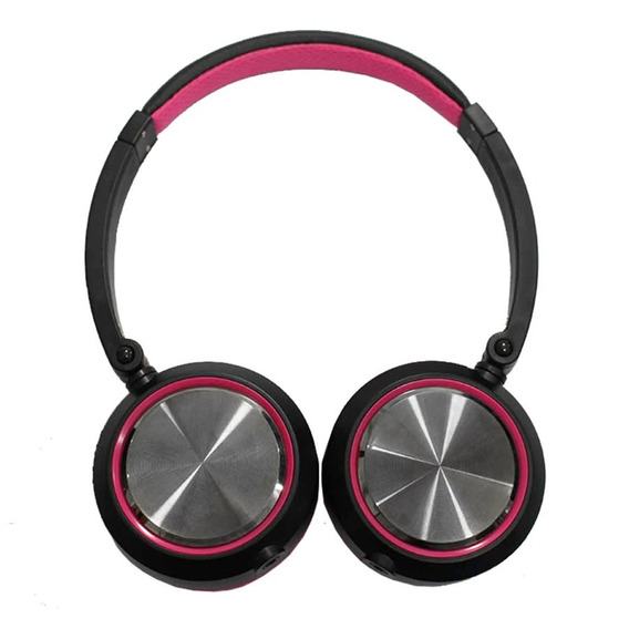 Fone De Ouvido Headphone On-ear Yoga Cd-46 Rosa E Preto