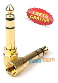 Plug Adaptador. P2 Para P10 Stereo Com Rosca - Frete Grátis
