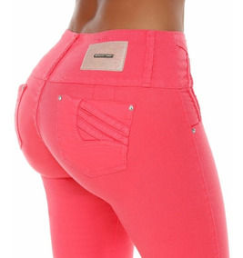 Jeans Colombianos Levanta Cola Color Coral / Grupoborder