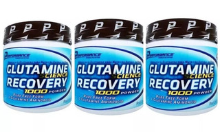 3x Glutamina 300g Cada Total 900g Performance Nutrition