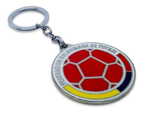 Llavero Selección Colombia Escudo Metálico Fútbol