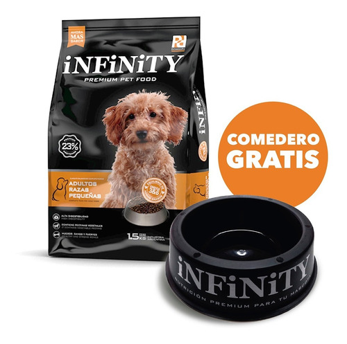 Alimento Perros Razas Pequeñas Infinity Premium 1,5 Kgs