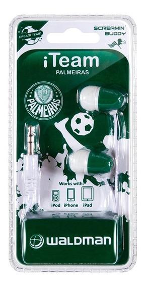 Kit C/2 Fone.ouvido Waldman Sb10 Palmeiras 08786