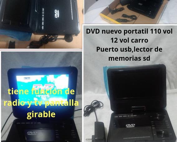 Dvd Portatil De Paquete Pantalla Giratoria