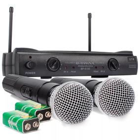 Microfone Digital Sem Fio Duplo Wireless Uhf Karaokê Igreja